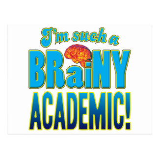Academic Brainy Brain Post Card