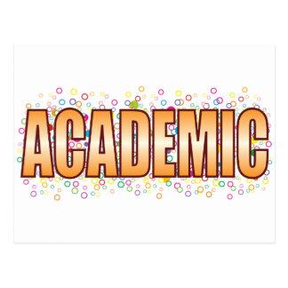 Academic Bubble Tag Postcard