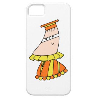 Academic dress kawaii cartoon character cases iPhone 5 cover