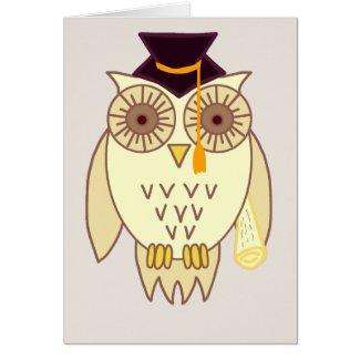 Academic Owl Card