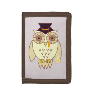 Academic Owl Tri-fold Wallets