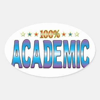 Academic Star Tag v2 Oval Sticker