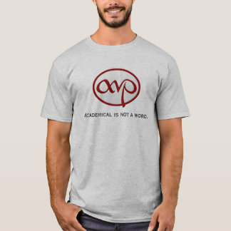 """Academical is not a word"" male t-shirt"