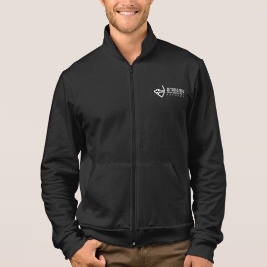 Academy Archery Black Fleece Zip Jogger Jacket