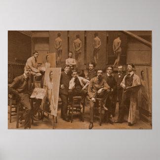 Academy of Antwerpen 1907 Poster