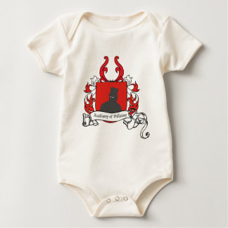 Academy of Villainy coat of arms Baby Bodysuit