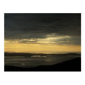 Acadia Cadillac Mountain Sunrise Storm Postcard
