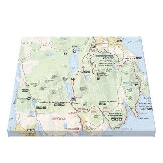 Acadia map canvas print