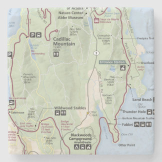 Acadia map coaster