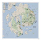 Acadia map poster