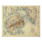 Acadia National Park 1931 Topographic Map Poster