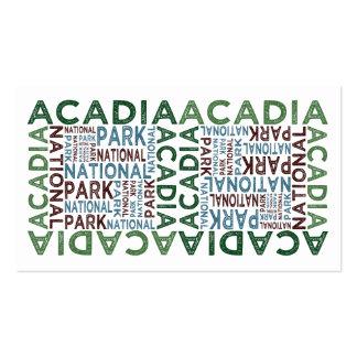 Acadia National Park Business Card Template