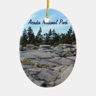 Acadia National Park, Maine Ceramic Oval Decoration