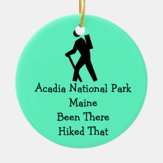 Acadia National Park Maine Hiked Christmas Ornament
