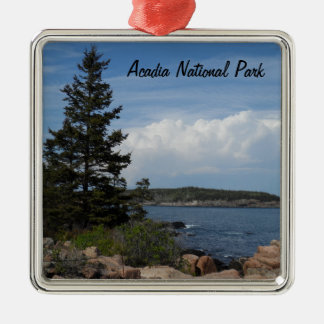 Acadia National Park, Maine Silver-Colored Square Decoration