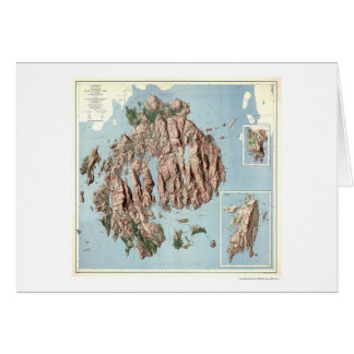Acadia National Park Map 1960 Card