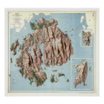 Acadia National Park Map 1960 Poster