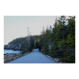 Acadia National Park Roadway Poster