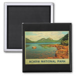Acadia National Park Square Magnet
