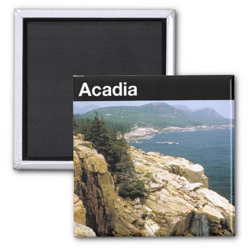 Acadia National Park Square Magnet