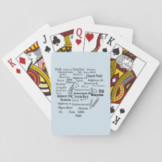 Acadia Parish Cities and Places Playing Cards
