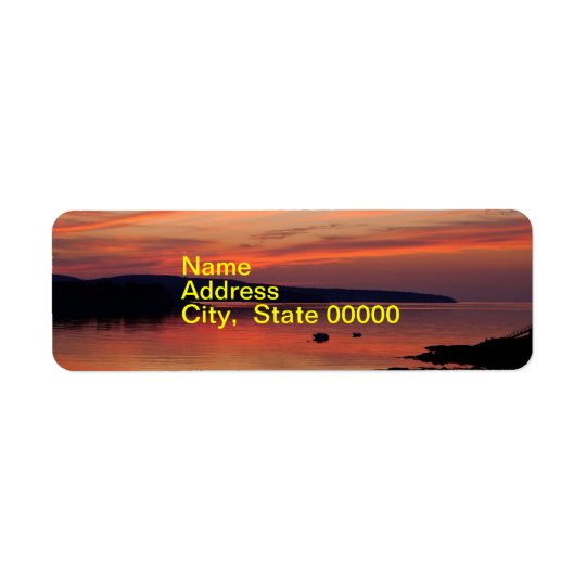 Acadia Sunrise Address Label