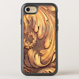 Acanthus Leaf Woodworking Wood Carving Burnished OtterBox Symmetry iPhone 7 Case