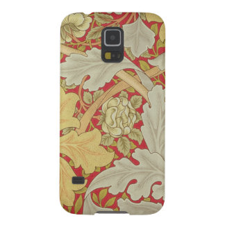 Acanthus leaves and wild rose on a crimson backgro galaxy s5 cover