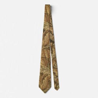 Acanthus Leaves by William Morris, Antique Textile Tie