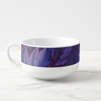 Acanthus Leaves in Purple and Blue Sneakers Soup Mug