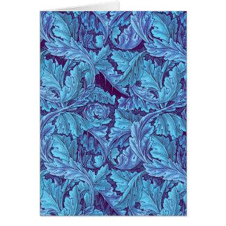 """Acanthus True Blue"" Card"