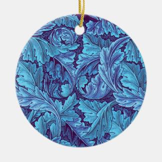 """Acanthus True Blue"" Christmas Ornament"
