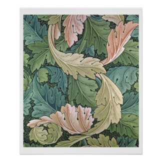 'Acanthus' wallpaper design, 1875 Poster
