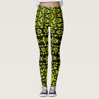 Acapulco Gold Hawaiian Turtle Dance Yoga Leggings