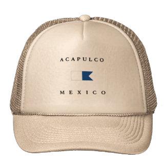 Acapulco Mexico Alpha Dive Flag Trucker Hat