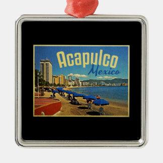 Acapulco Mexico Vintage Travel Christmas Ornament