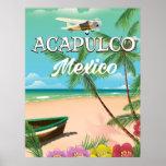 Acapulco Mexico Vintage travel poster