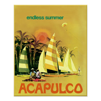 Acapulco travel poster