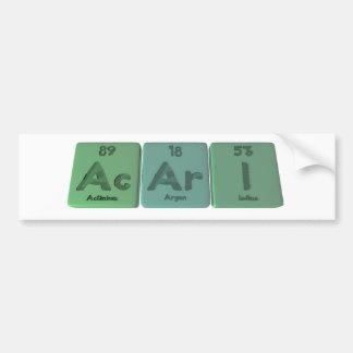 Acari-Ac-Ar-I-Actinium-Argon-Iodine Bumper Sticker