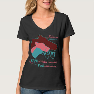 ACART - Safe Haven   Dusty Rose and Chocolate Logo Tshirt