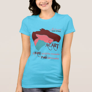 ACART - Safe Haven | Dusty Rose and Chocolate Logo T-shirts