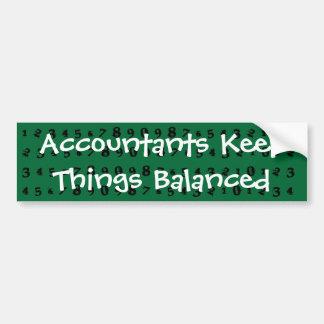 Acccountants Keep Things Balanced Bumper Sticker