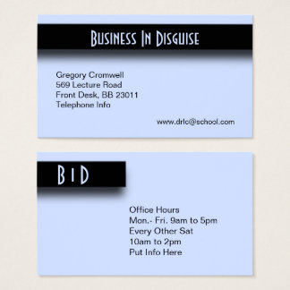 Accent Blue Business Card