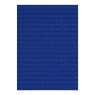 Accent Blue Carbon Fiber Like Print Background 13 Cm X 18 Cm Invitation Card