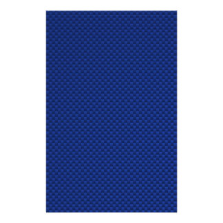 Accent Blue Carbon Fiber Like Print Background Stationery Paper