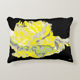 """Accent Pillow 16"""" x 12"""" Yellow Rose"""