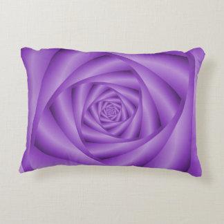 Accent Pillow  Violet Spiral