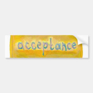 Acceptance - fresh simple colourful painting art bumper sticker