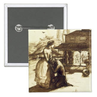 Accepted, 1853 (pen & brown ink on paper) 15 cm square badge