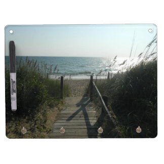 Access To The Beach Dry Erase Board With Key Ring Holder